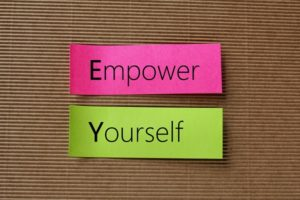 Empower Yourself text on colorful sticky notes